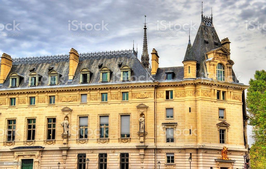 The Palais de Justice in Paris, France stock photo
