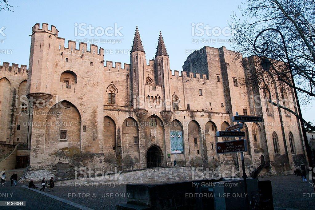The Palais des Papes Avignon royalty-free stock photo