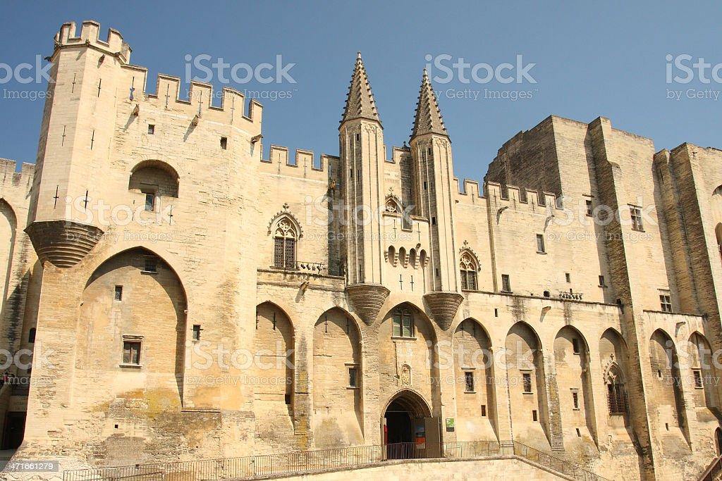 the palais des papes stock photo