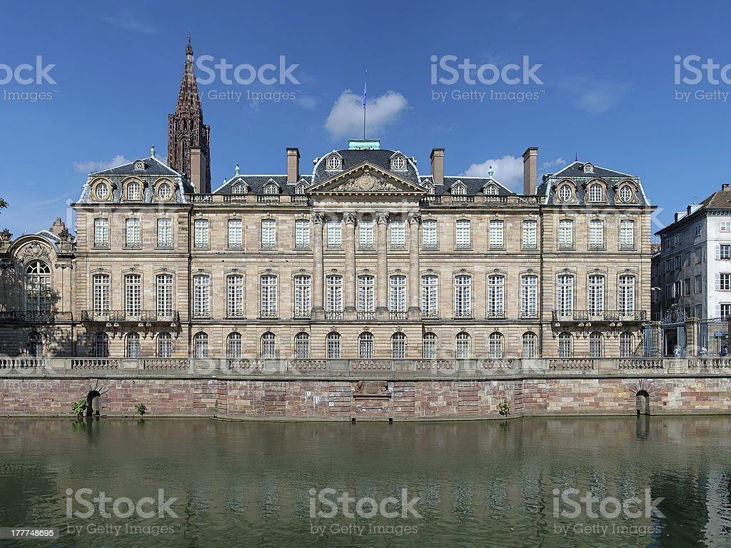 The Palais Rohan in Strasbourg, France stock photo
