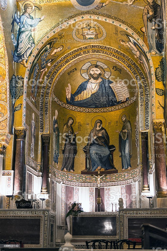 The Palatine Chapel, Palermo stock photo