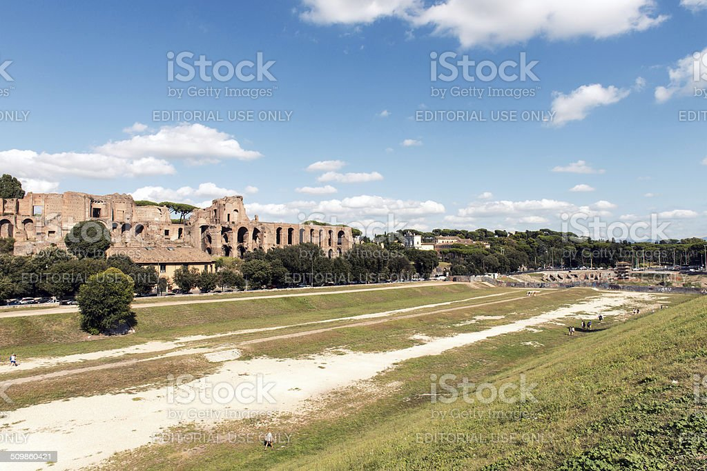 The Palatine hill facing the Circus Maximus stock photo
