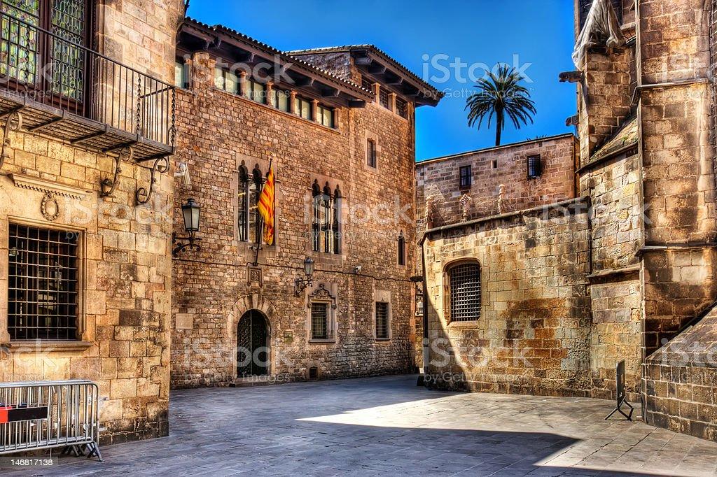 The Palau de la Generalitat, Barcelona stock photo