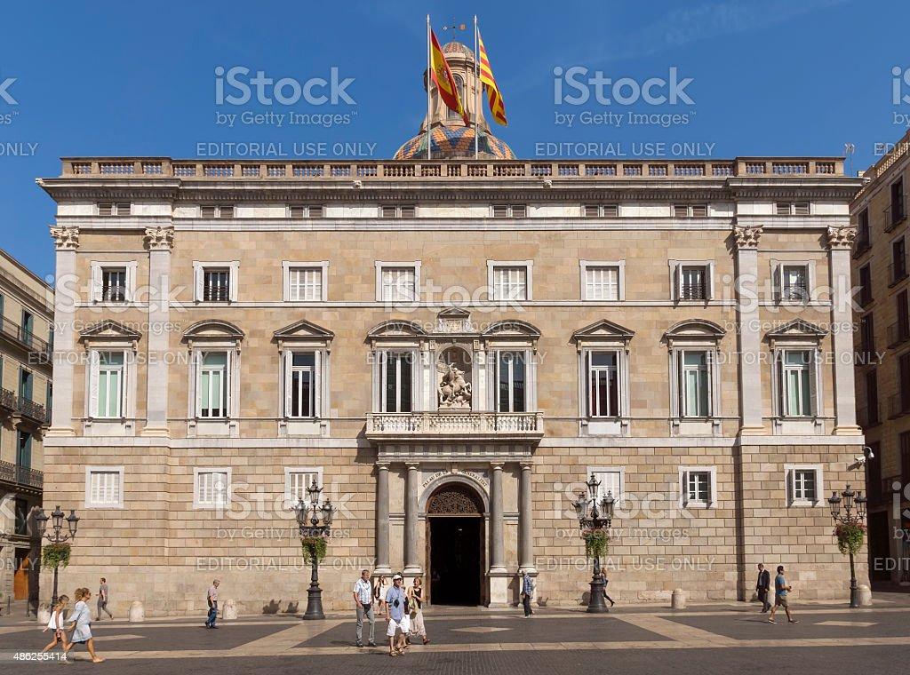 The Palau de la Generalitat stock photo