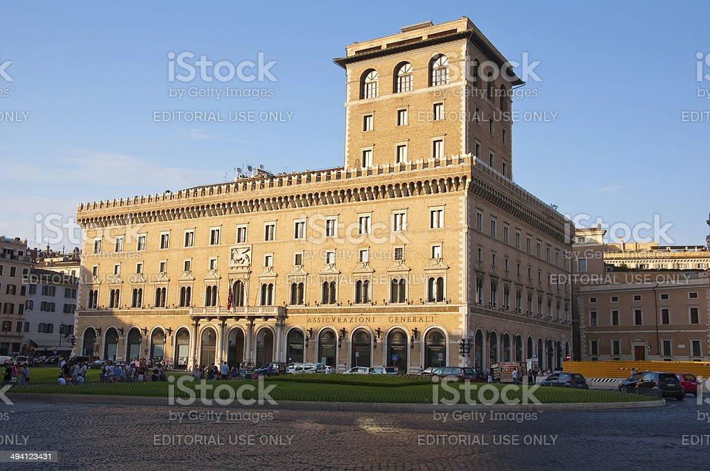 The Palazzo di Venezia in Rome, Italy. stock photo