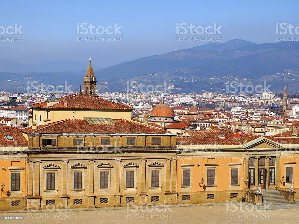 The Palazzo Pitti, Florence, Italy royalty-free stock photo