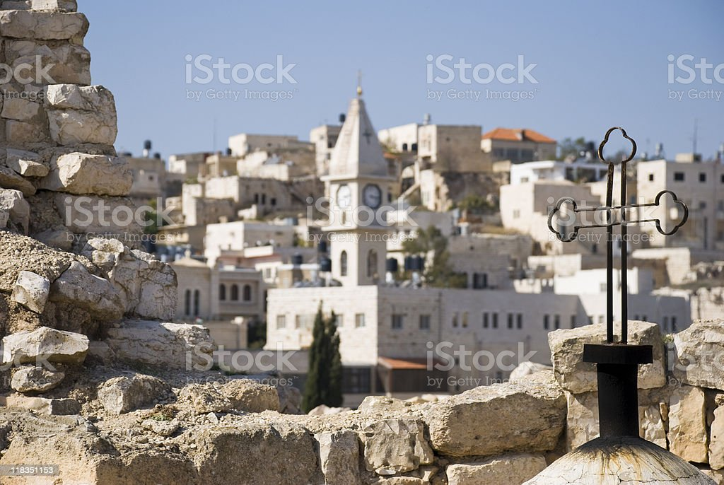 Arab Christian town of Taybeh in West Bank royalty-free stock photo