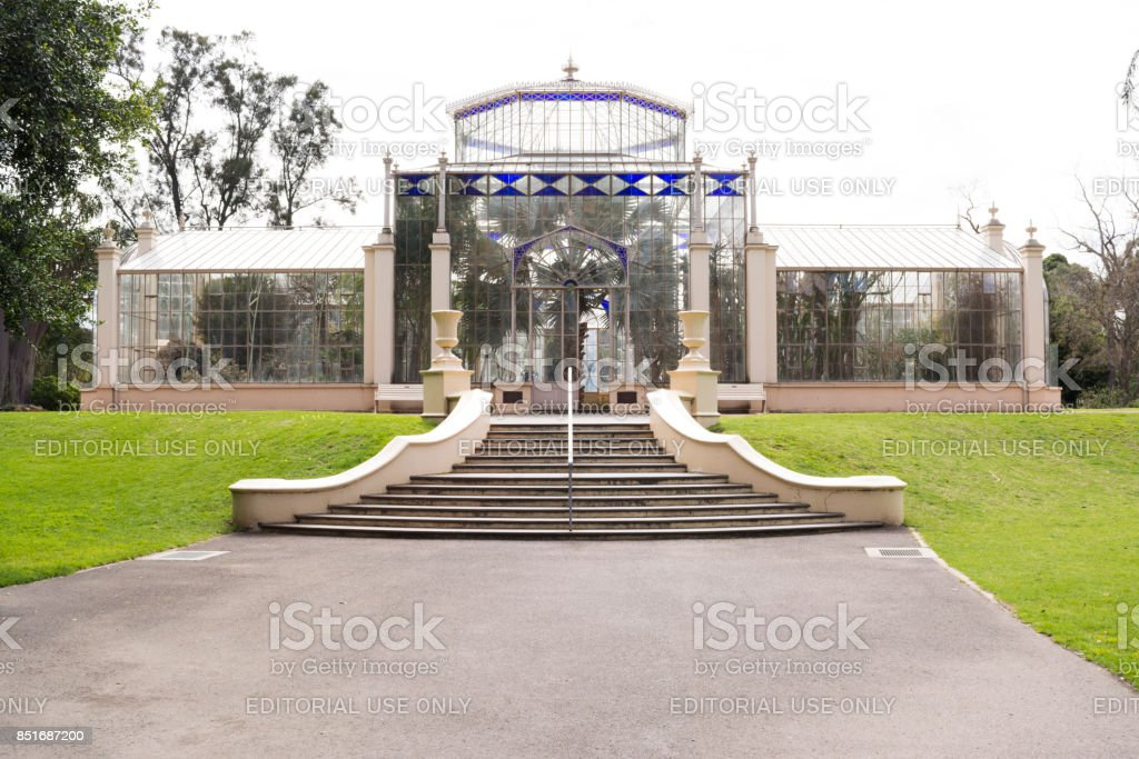 The Palm House, Adelaide Botanic Garden, South Australia stock photo