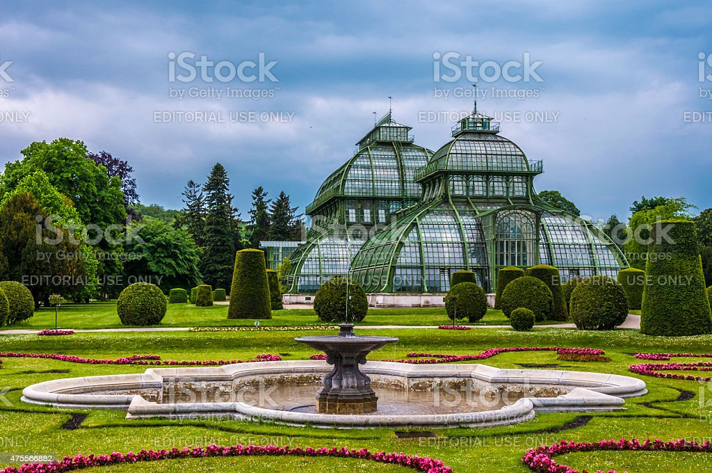 The Palm house, Sch?nbrunn Palace, Vienna stock photo