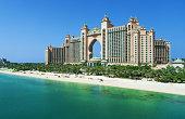The Palm Jumeirah and Atlantis hotel in Dubai.