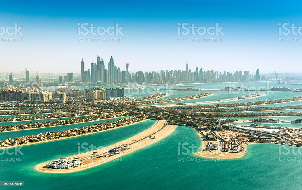 The Palm Jumeirah, Dubai, UAE stock photo