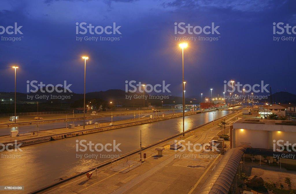 The Panama Canal royalty-free stock photo