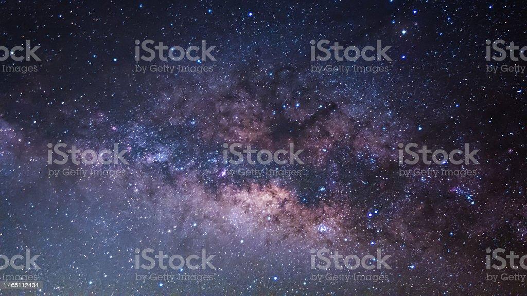 The Panorama Milky Way ,Long exposure photograph. stock photo