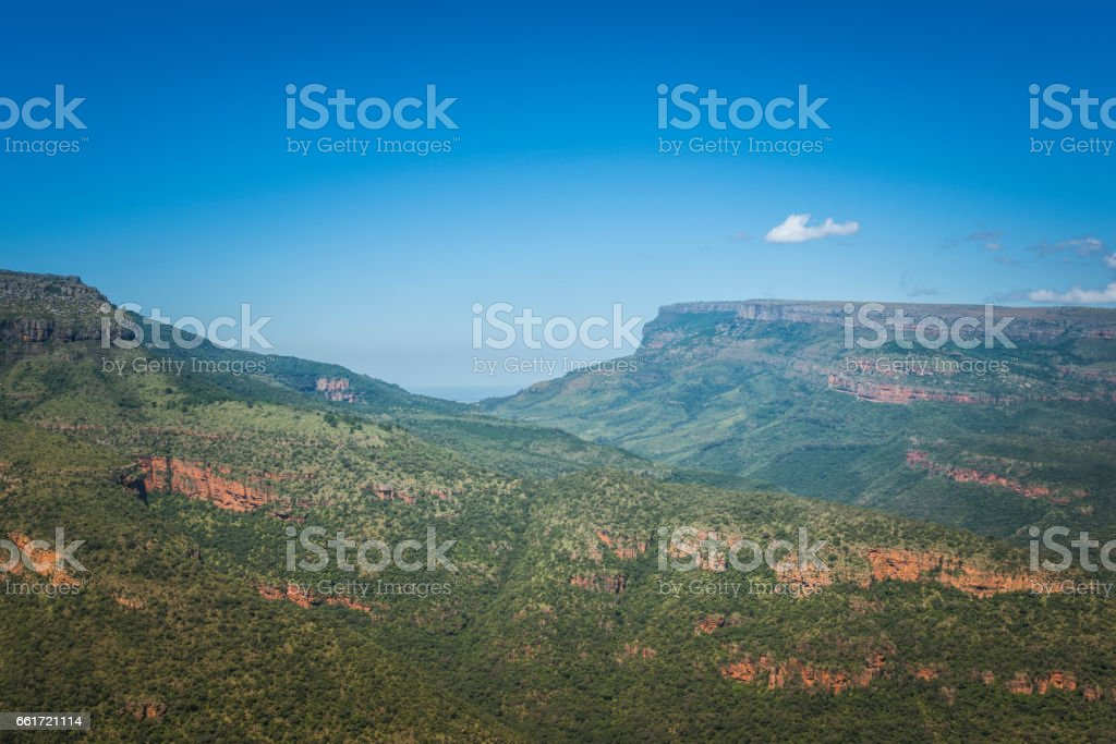 the panorama route  in south africa stock photo