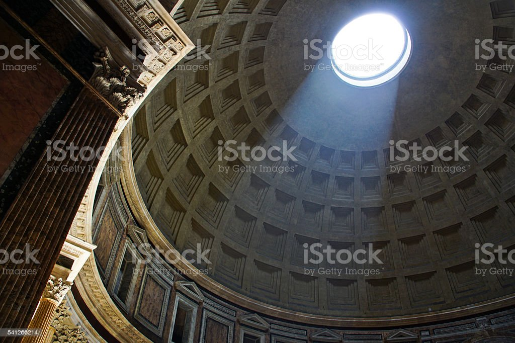 The Pantheon in Ancient Rome, Italy stock photo