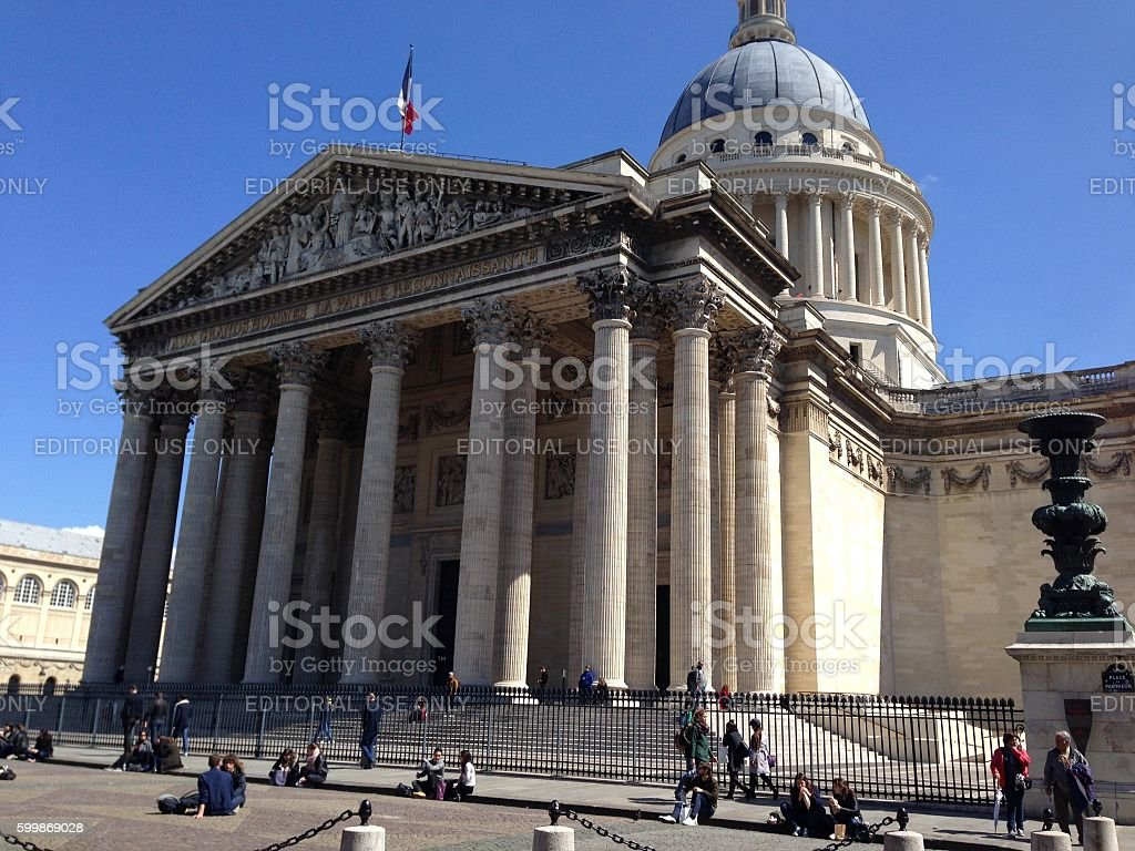 The Pantheon Paris stock photo