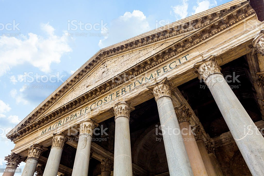 The Pantheon Temple royalty-free stock photo