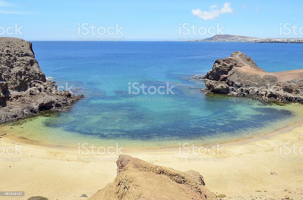 the papagayo beach stock photo