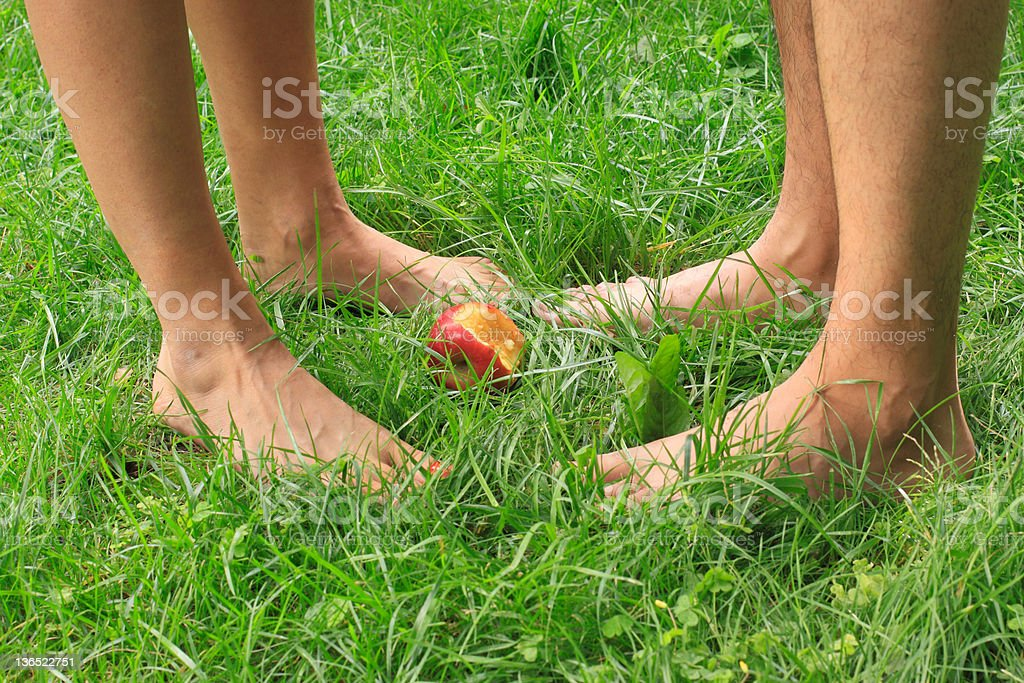 The Paradise and first sin stock photo