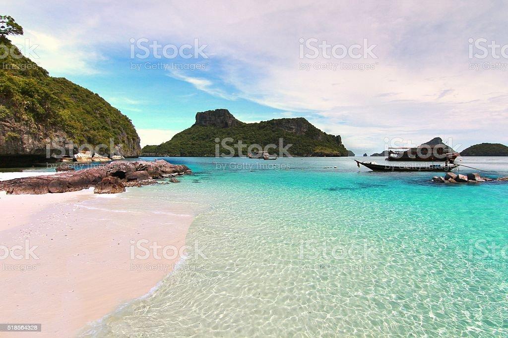 The Paradise beach. Koh Samui, Thailand stock photo
