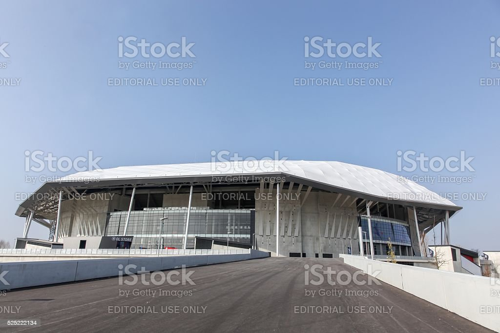 The Parc Olympique stadium in Lyon, France stock photo