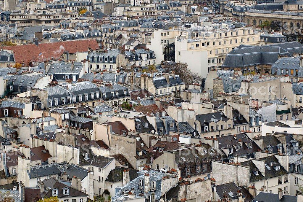 The paris`s housetops. stock photo