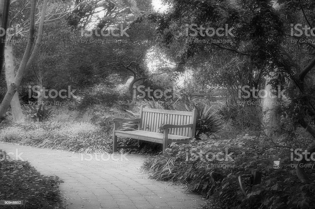 The Park Bench royalty-free stock photo
