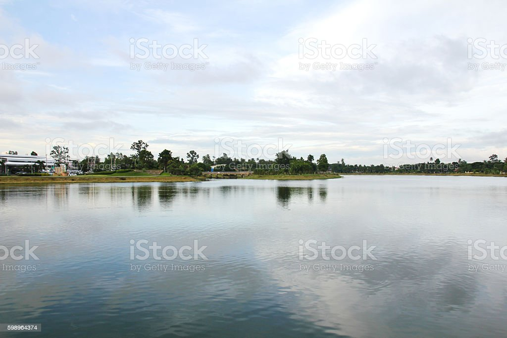 The park of big provinces is famous ,Udonthani ,Thailand. stock photo