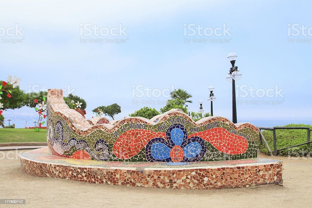 El Parque del Amor, in Miraflores, Lima, Peru stock photo