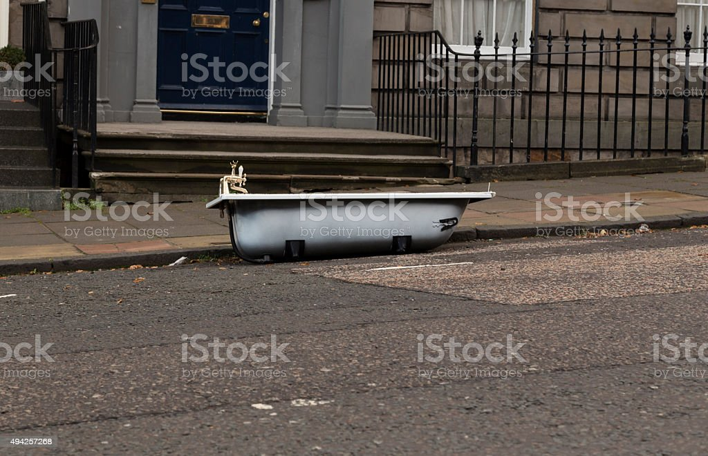The parked tub stock photo