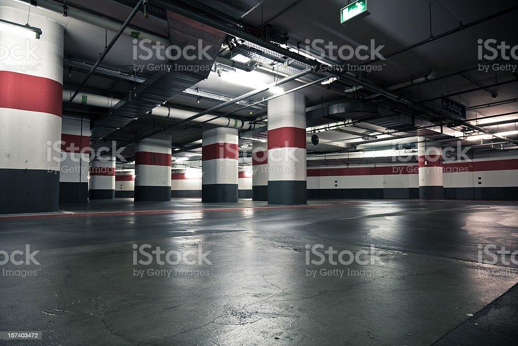 The parking garage stock photo