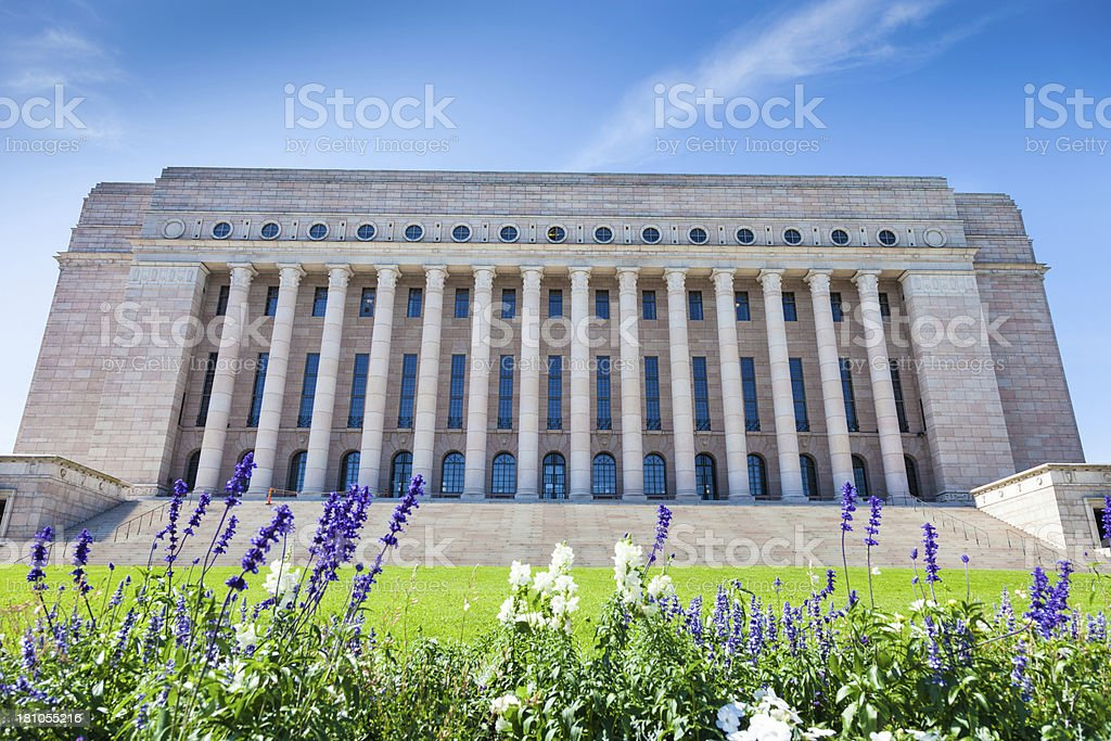 The Parliament House in Helsinki royalty-free stock photo