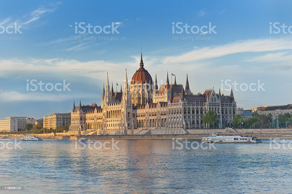 The Parliament in Budapest royalty-free stock photo
