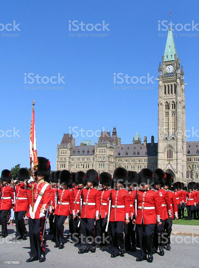 The Parliament, National Guard, Ottawa, Canada royalty-free stock photo