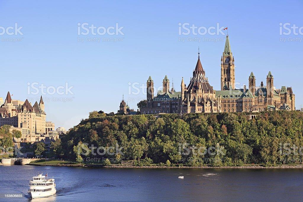 The Parliament of Canada and Ottawa River (XXXL) stock photo