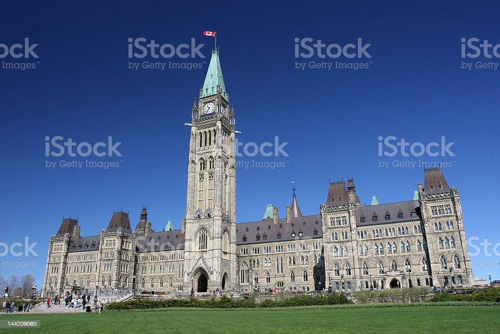 The Parliament of Canada in summer stock photo