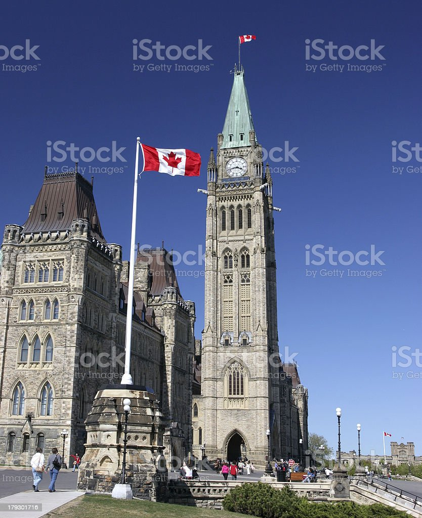 The Parliament of Canada viwed from left side stock photo