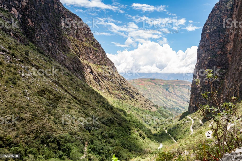 The Paron Valley In The Andes, Peru stock photo