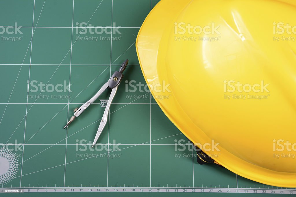The part of architectural project royalty-free stock photo