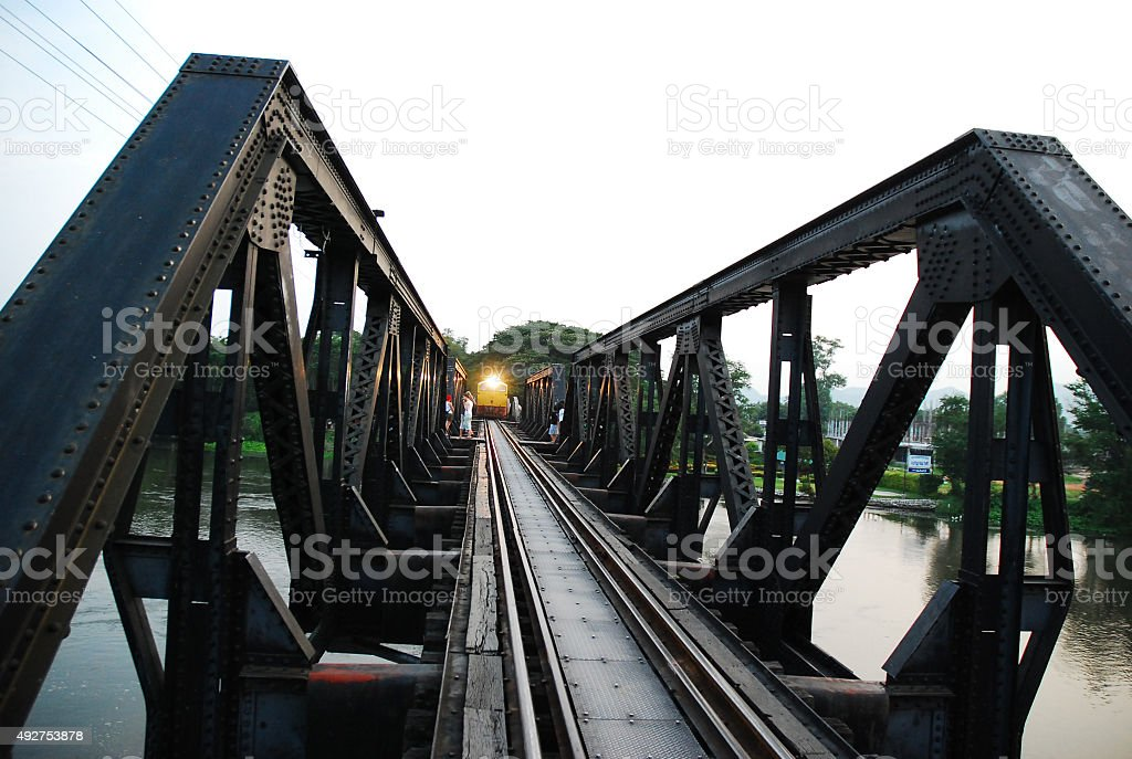 the part of dead rail way and train stock photo