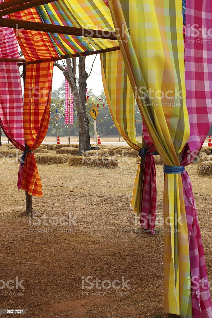 the  part of the color tent royalty-free stock photo