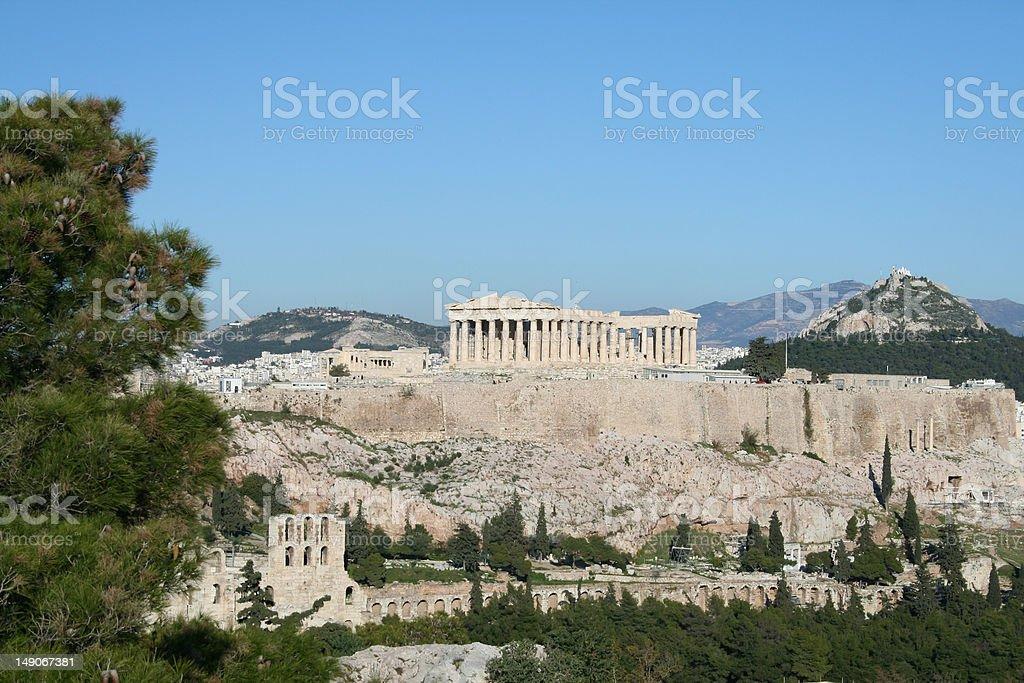 The Parthenon in Athens Greece royalty-free stock photo