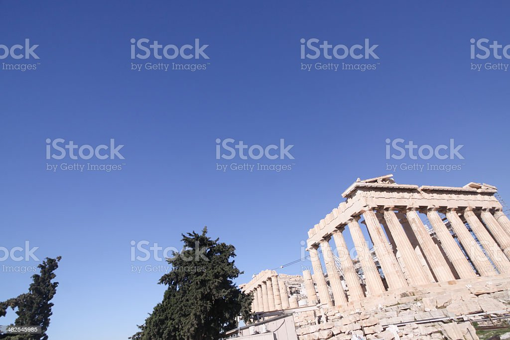 The Parthenon in Athens, Greece royalty-free stock photo