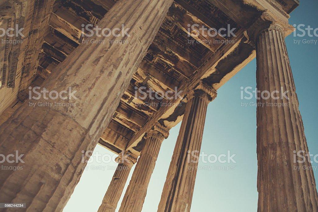 The Parthenon in Athens, Greece stock photo