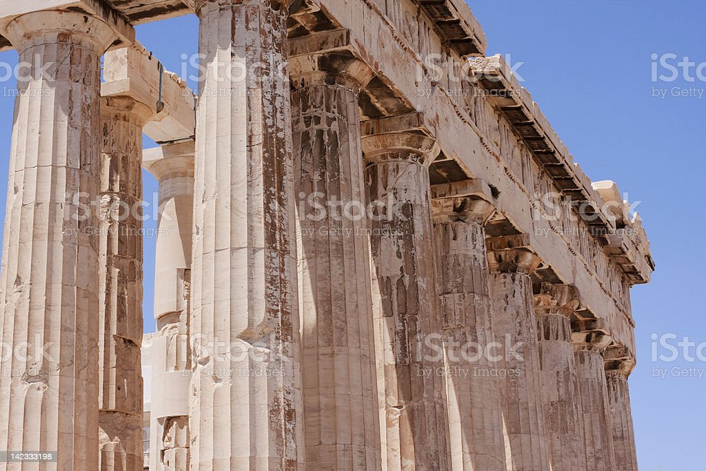The Parthenon in  Athens. royalty-free stock photo