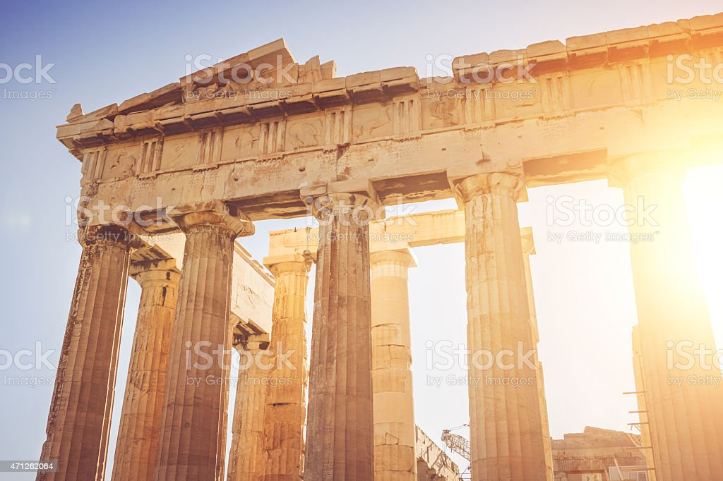 The Parthenon in Athens stock photo