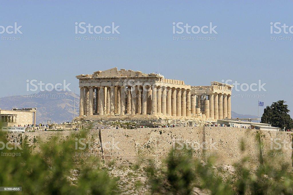 The Parthenon of Athens, Greece stock photo