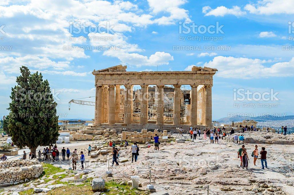 The Parthenon of Athens stock photo