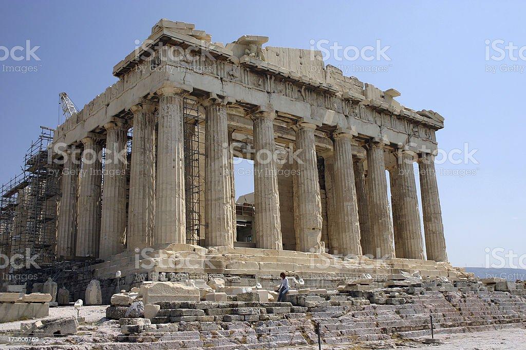 The Parthenon royalty-free stock photo
