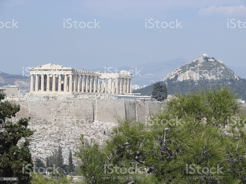 The Parthenon stock photo